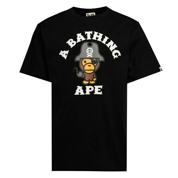 Bape Baby Milo Pirate Tee Black