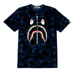 BAPE Color Camo Shark Tee Blue