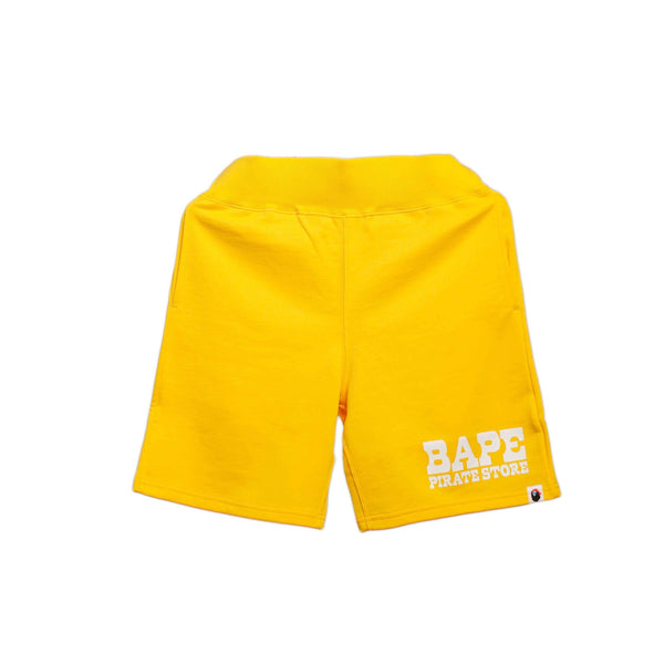 Bape Pirate Store Sweat Shorts Yellow