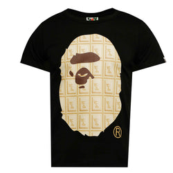 BAPE Valentine Chocolate Ape Head Tee Black