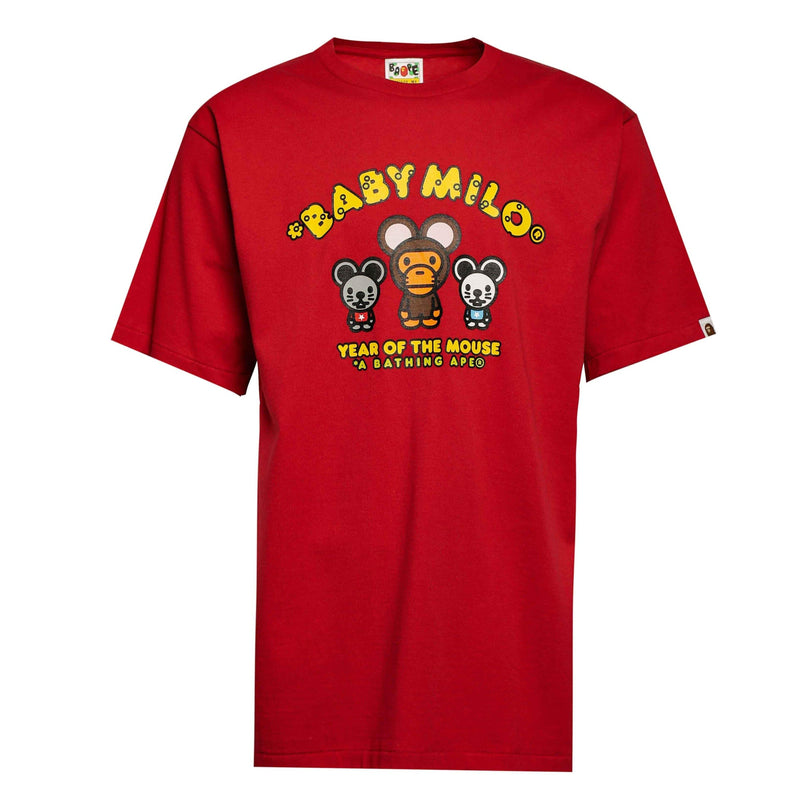 BAPE Year of the Mouse Baby Milo Tee Red