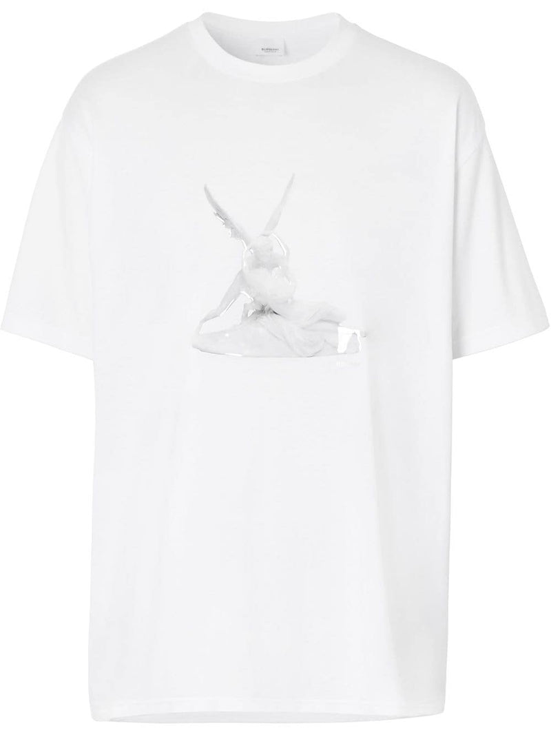Burberry Cupid Print Oversized Tee White