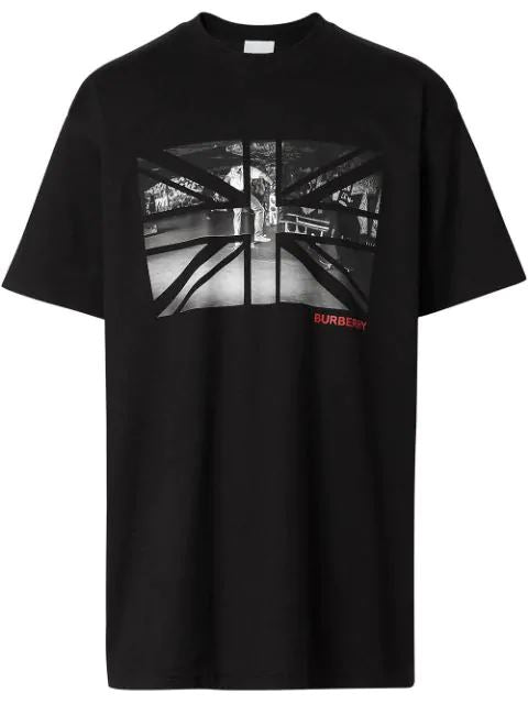 Burberry Union Jack Skate Park Tee Black