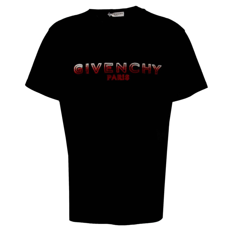 Givenchy Flocked Logo Tee Black