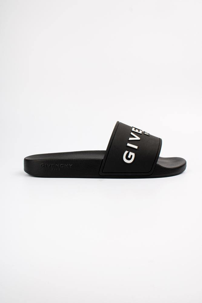 Givenchy Logo Print Slide Black