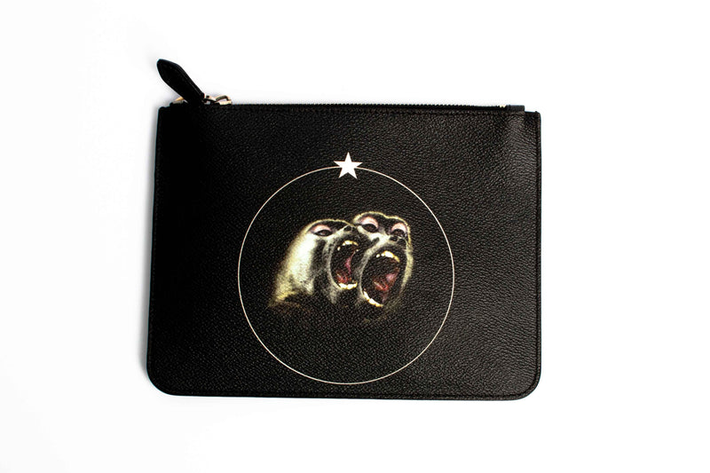 Givenchy Monkey Brothers Print Clutch Black