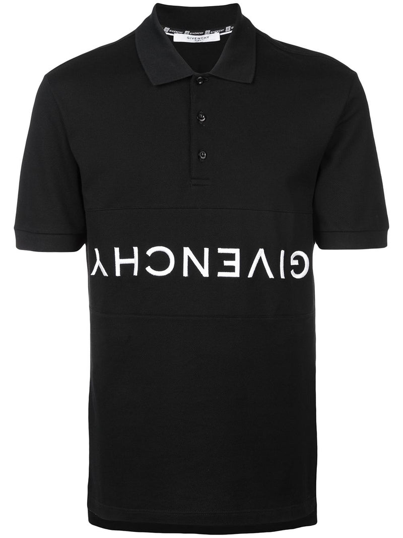 Givenchy Reverse Logo Polo Black