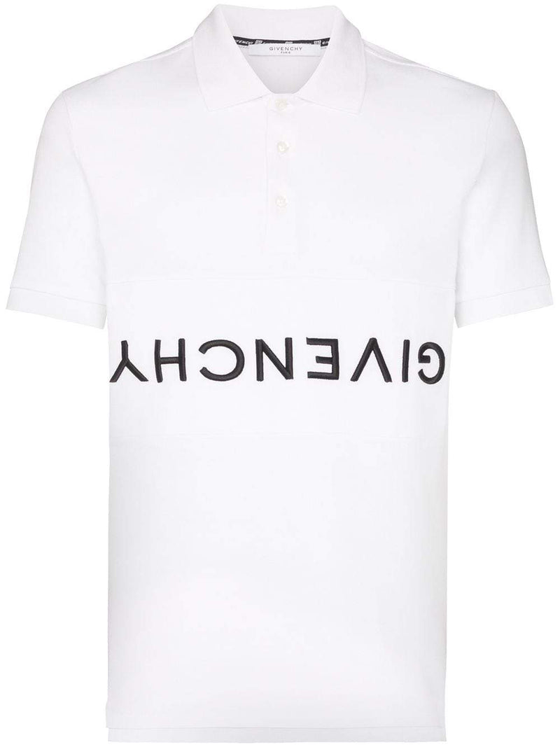 Givenchy Reverse Logo Polo White