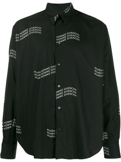 Givenchy Wave Logo Shirt Black