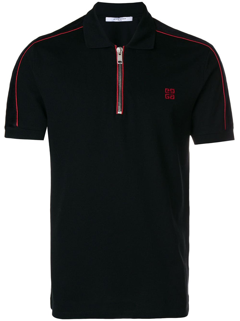 Givenchy Zip-Up Polo Black