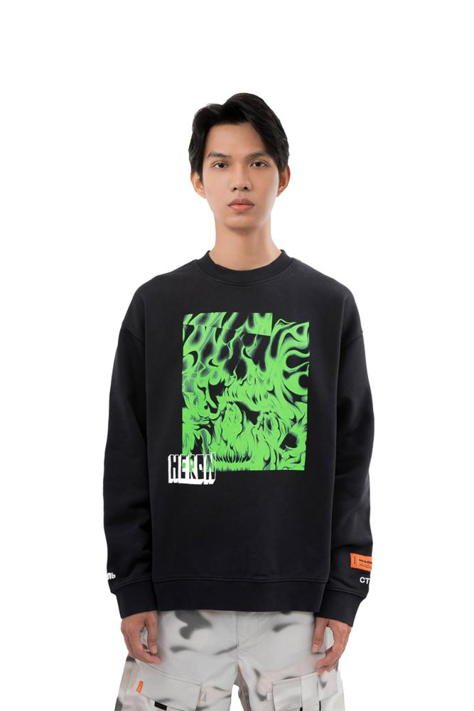 Heron Preston Box Skull Sweatshirt Black