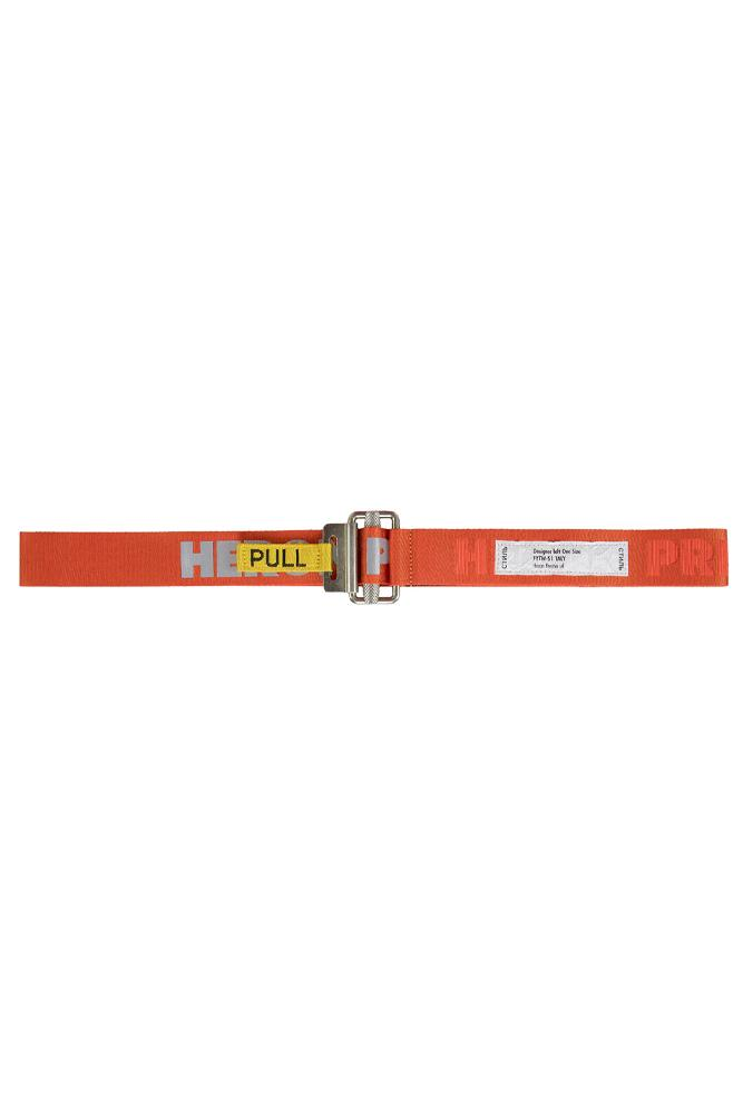 Heron Preston Pull Belt Dark Orange