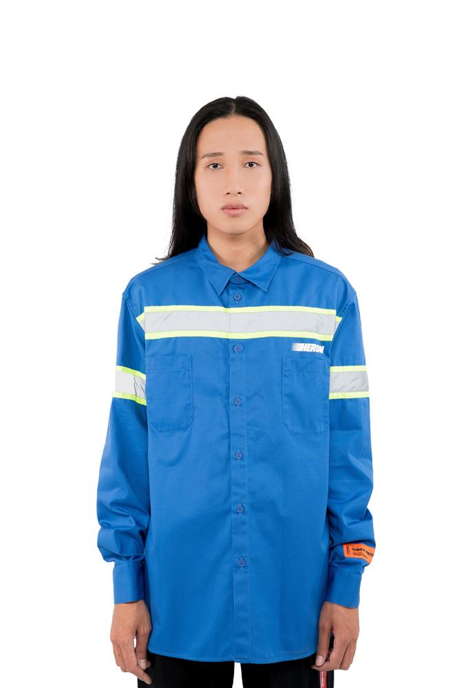 Heron Preston Reflector Shirt Blue