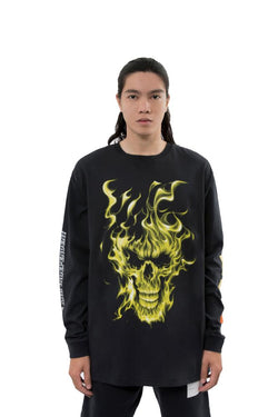 Heron Preston Skulls Long Sleeve Tee Black