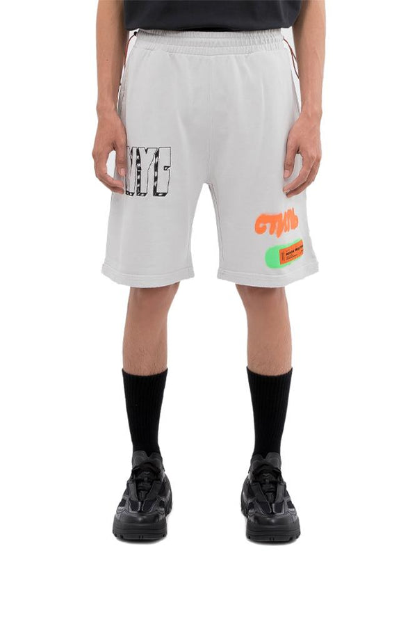 Heron Preston Spray Vert Shorts Grey