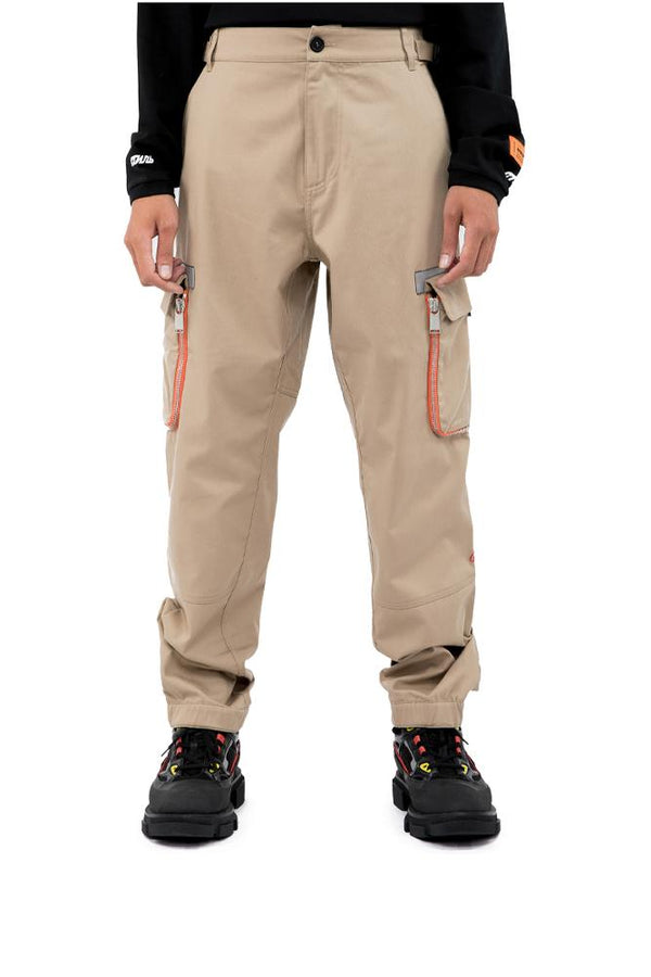 Heron Preston Zipper Cargo Pants Beige