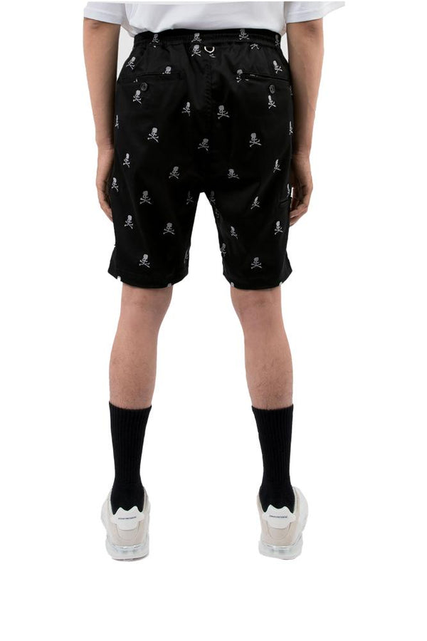 Mastermind World Monogram Bones Shorts Black