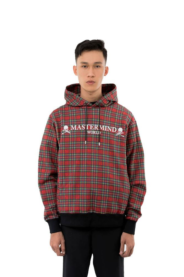 Mastermind World Plaid Hoodie Red