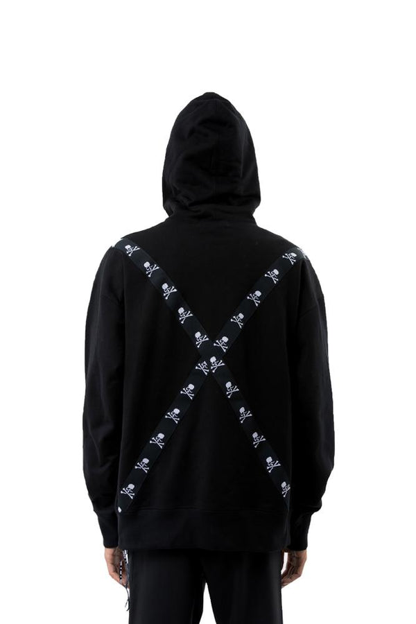 Mastermind World Skull Tape Hoodie Black