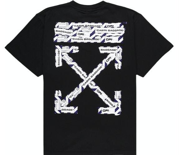 Off-White Airport Tape Tee Black