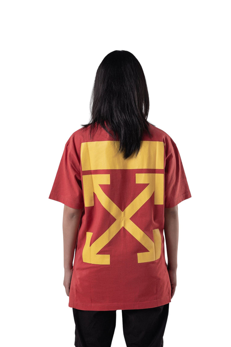 Off-White Arrows Tee Split Red & Yellow