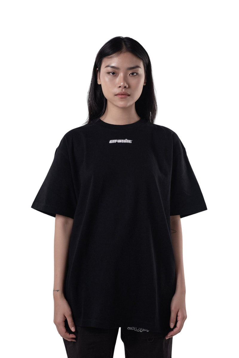 Off-White Blue Marker Arrows Tee Black