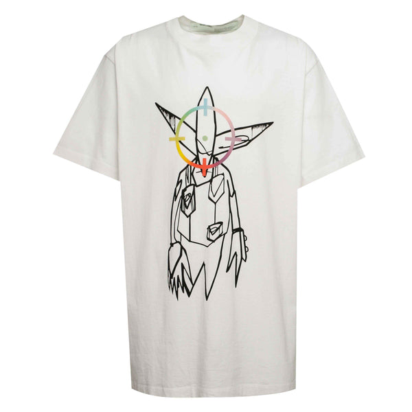 Off-White Futura Aliens Tee White