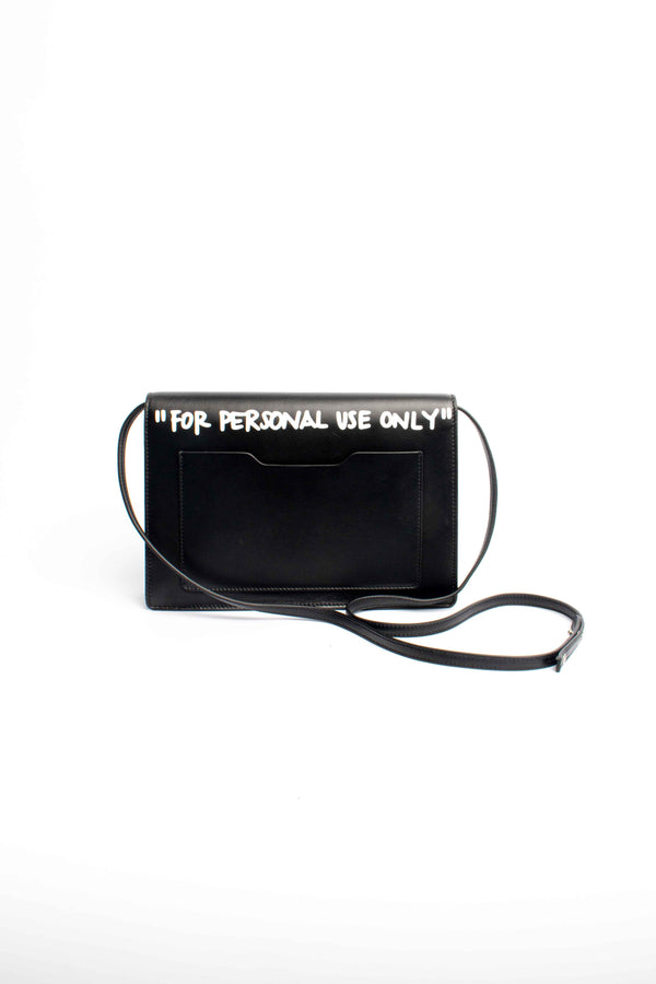 Off-White Jitney 1.0 Cash Inside Leather Cross Body Bag Black