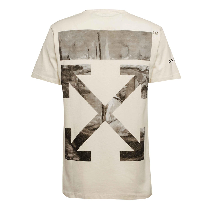 Off-White Newspaper Print Tee White
