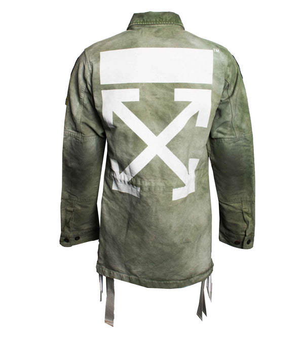 Off-White Patch Embellished Field Jacket