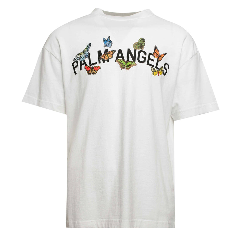 Palm Angels Butterfly Logo Print Tee White