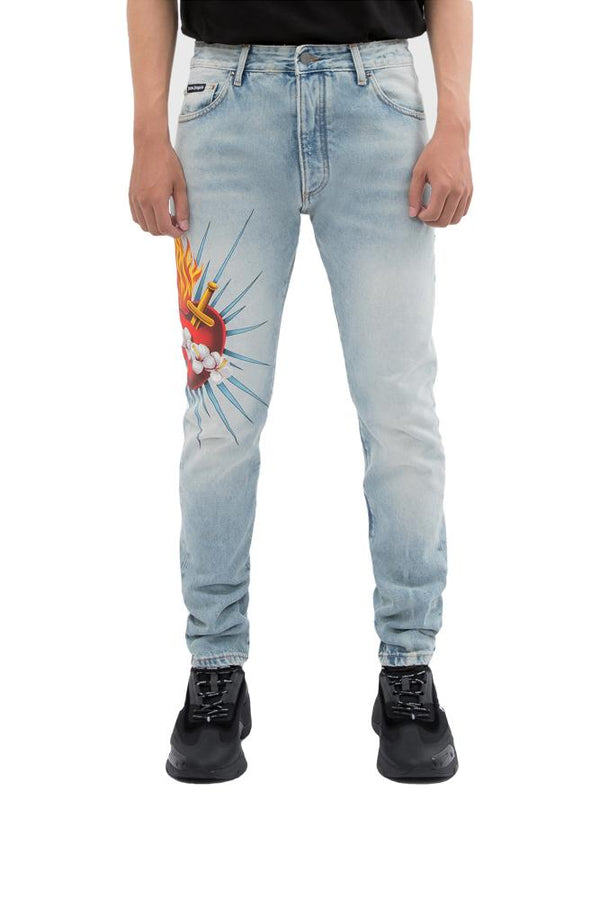 Palm Angels Sacred Heart Jeans