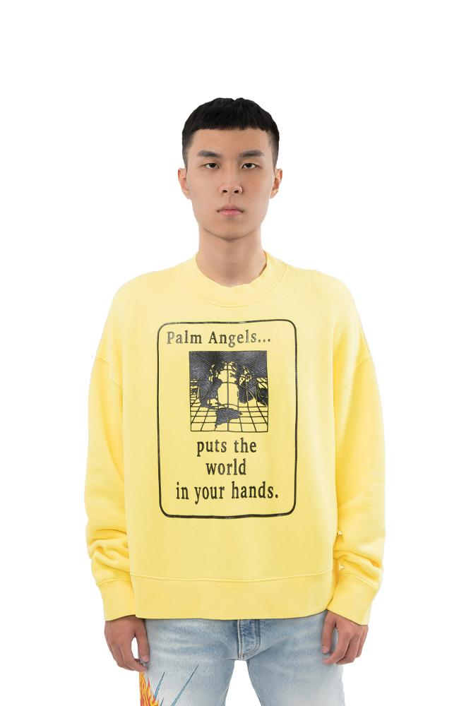 Palm Angels World in Hands Sweater Yellow