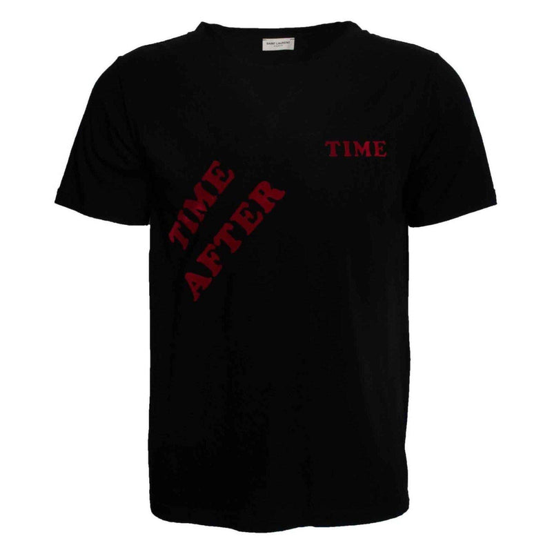 Saint Laurent Time After Time Print Tee Black