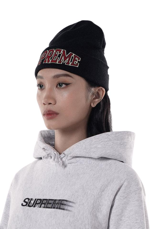 Supreme Embroidered Beanie Black