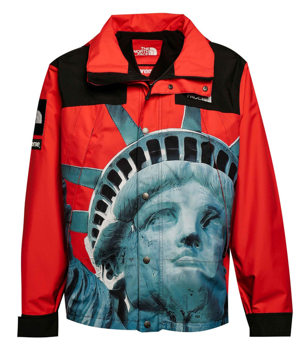 Supreme x The North Face Statue of Liberty Mountain Jacket Red