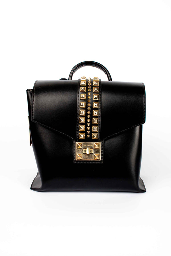 Valentino Studded Leather Backpack Black
