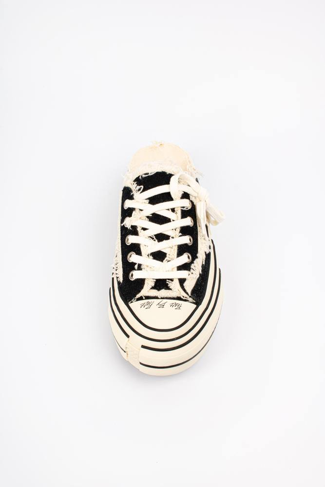 Yohji Yamamoto X Vessel Low Top Sneakers Black/White