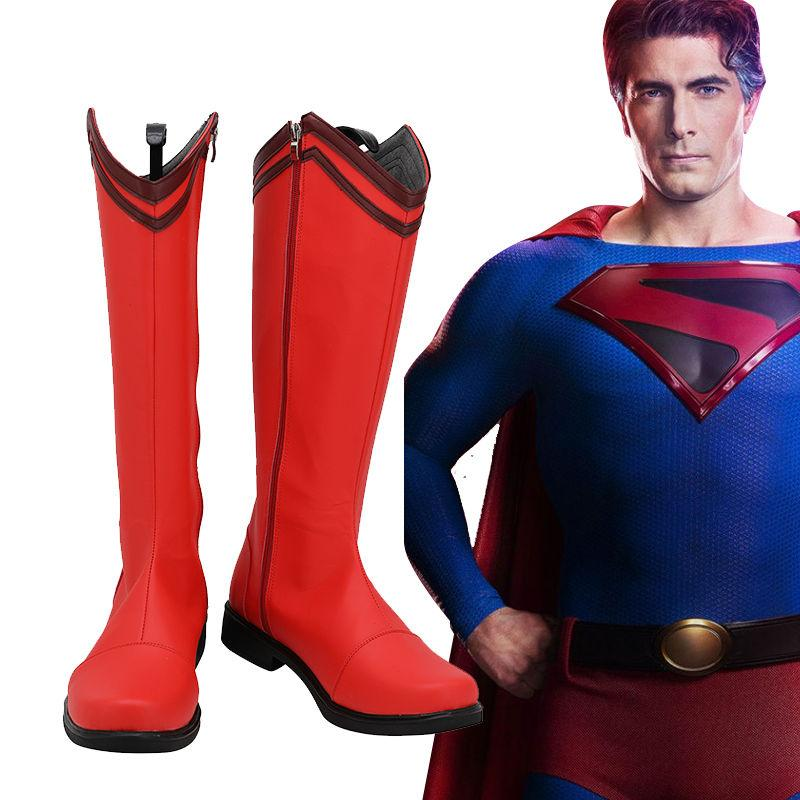 Crisis on Infinite Earths Clark Kent Cosplay Shoes