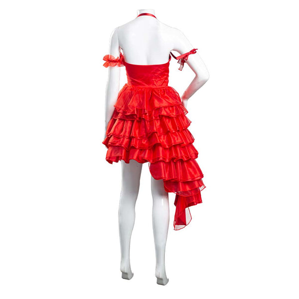 The Suicide Squad(2021) Harley Quinn Cosplay Costume Red Dress Outfits Halloween Carnival Suit
