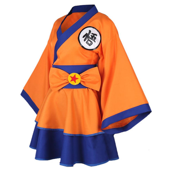 Dragon Ball Z Goku Genderbend Lolita Dress Cosplay Costume
