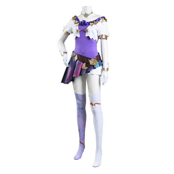 League of Legends LOL KDA Groups Seraphine Skin Cosplay Costume Women Dress Outfits Halloween Carnival Suit