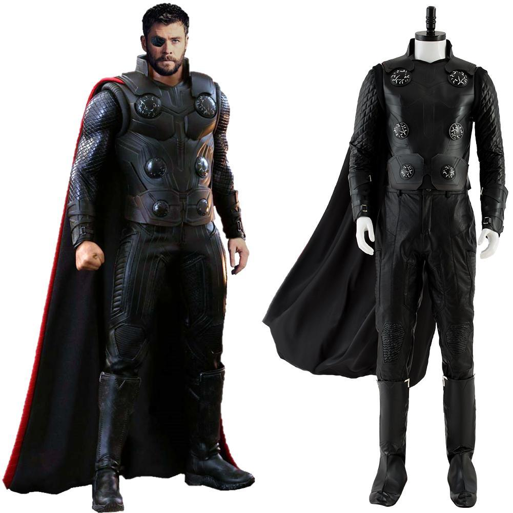Avengers 3 Infinity War Thor Odinson Outfit Halloween Cosplay Costume Adults NEW