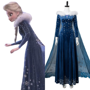 Frozen Adventure Princess Elsa Dress Halloween Cosplay Costume