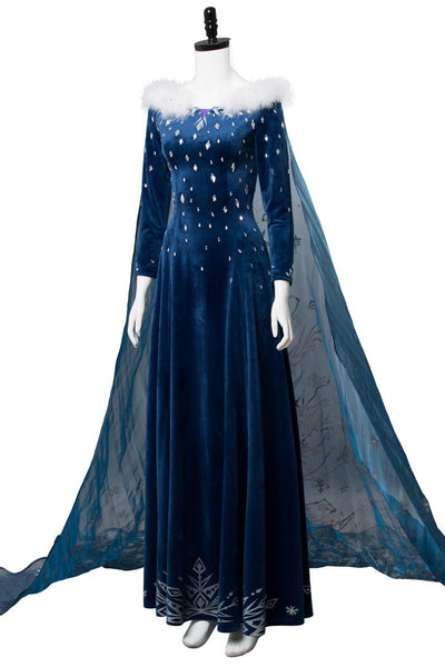 Olaf's Frozen Adventure Princess Elsa Dress Halloween Cosplay Costume