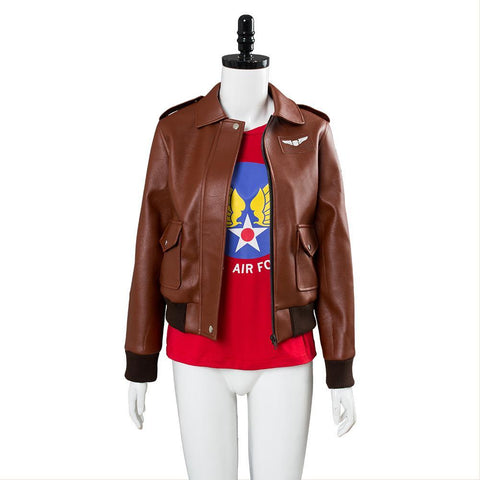 Captain Marvel Carol Danvers U.S.Air Force T Shirt Bomber Jacket Casual Suit