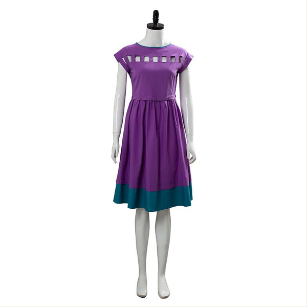Stranger Things Season 3 Nancy Wheeler Purple Dress Cosplay Costume