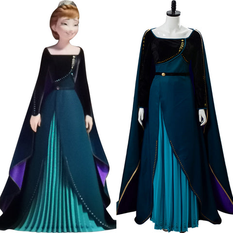 Frozen 2 Anna Queen Coronation Gown Suit Cosplay Costume
