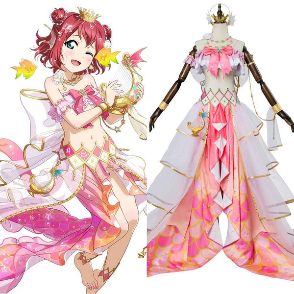 LoveLive Mermaid Festa Kurosawa Ruby Cosplay Costume Awakening Dress