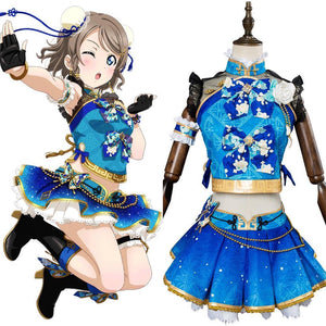 LoveLive Aqours China Dress Ver Watanabe You Cosplay Costume
